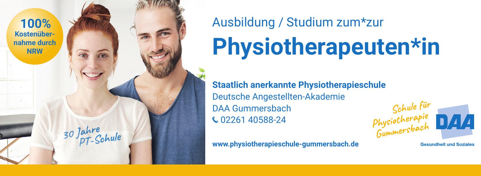 Deutsche Angestellten-Akademie - DAA Gummersbach - Staatlich anerkannte Physiotherapieschule
