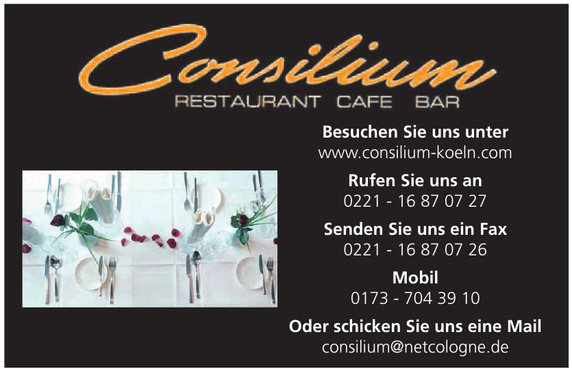 Consilium Restauranr - Bar