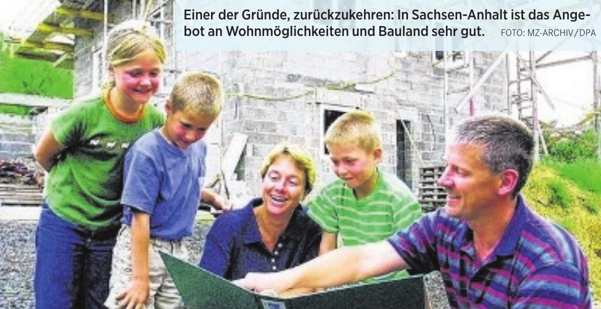 Einer der Gründe, zurückzukehren: In Sachsen-Anhalt ist das Angebot an Wohnmöglichkeiten und Bauland sehr gut. FOTO: MZ-ARCHIV/DPA
