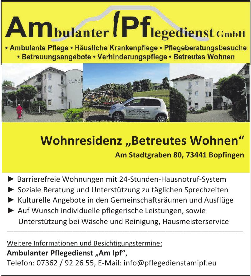 "Ambulanter Pflegedienst ""Am Ipf""GmbH"