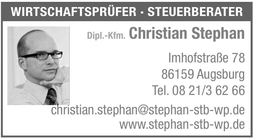 Dipl.-Kfm. Christian Stephan