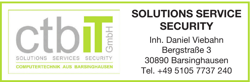 ctbiT Solutions Service Security GmbH