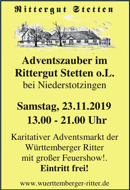 Rittergut Stetten Adventszauber im Rittergut Stetten o.L.