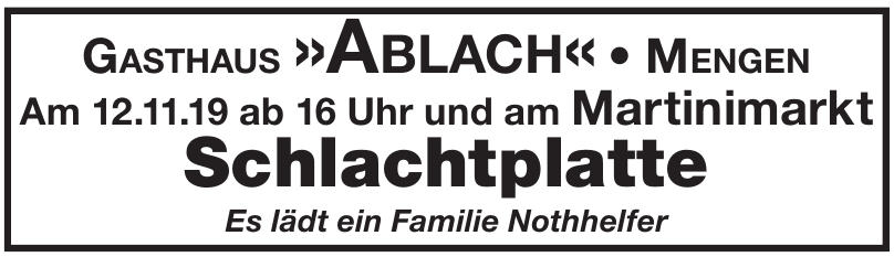 Gasthaus »Ablach«