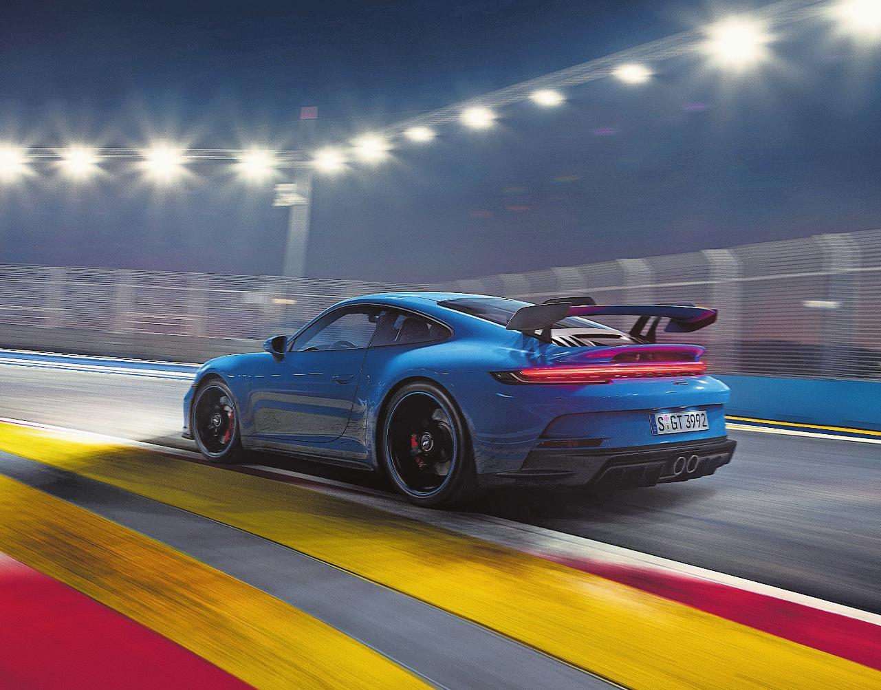 Seltenheit: der Porsche 911 GT3 (ab Mai) mit 4-Liter-Saugmotor (510 PS) und auf Wunsch mit 6-Gang-Schaltgetriebe. Ab 205 500 Franken!