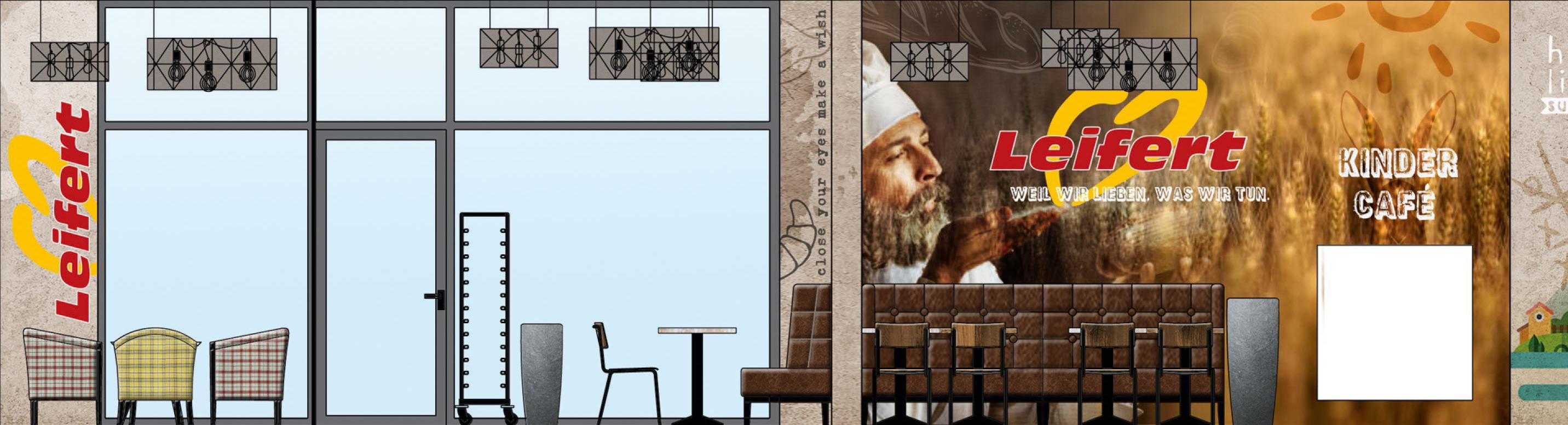 Jede Wand ein Kunstwerk – das wird die Kunden in der neuen Leifert-Filiale in der Limbergstraße erwarten.