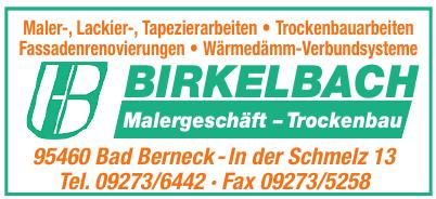 Birkelbach Malergeschäft-Trockenbau