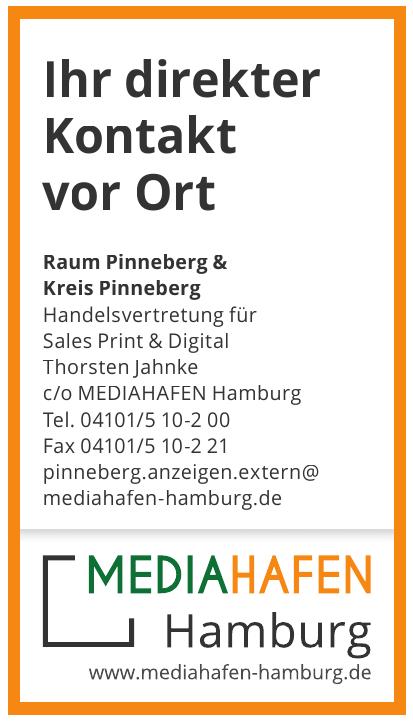 Handelsvertretung für Sales Print & Digital Thorsten Jahnke c/o MEDIAHAFEN Hamburg