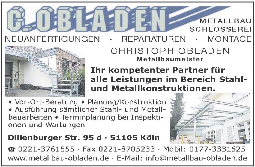 C. Obladen Metallbau, Schlosserei