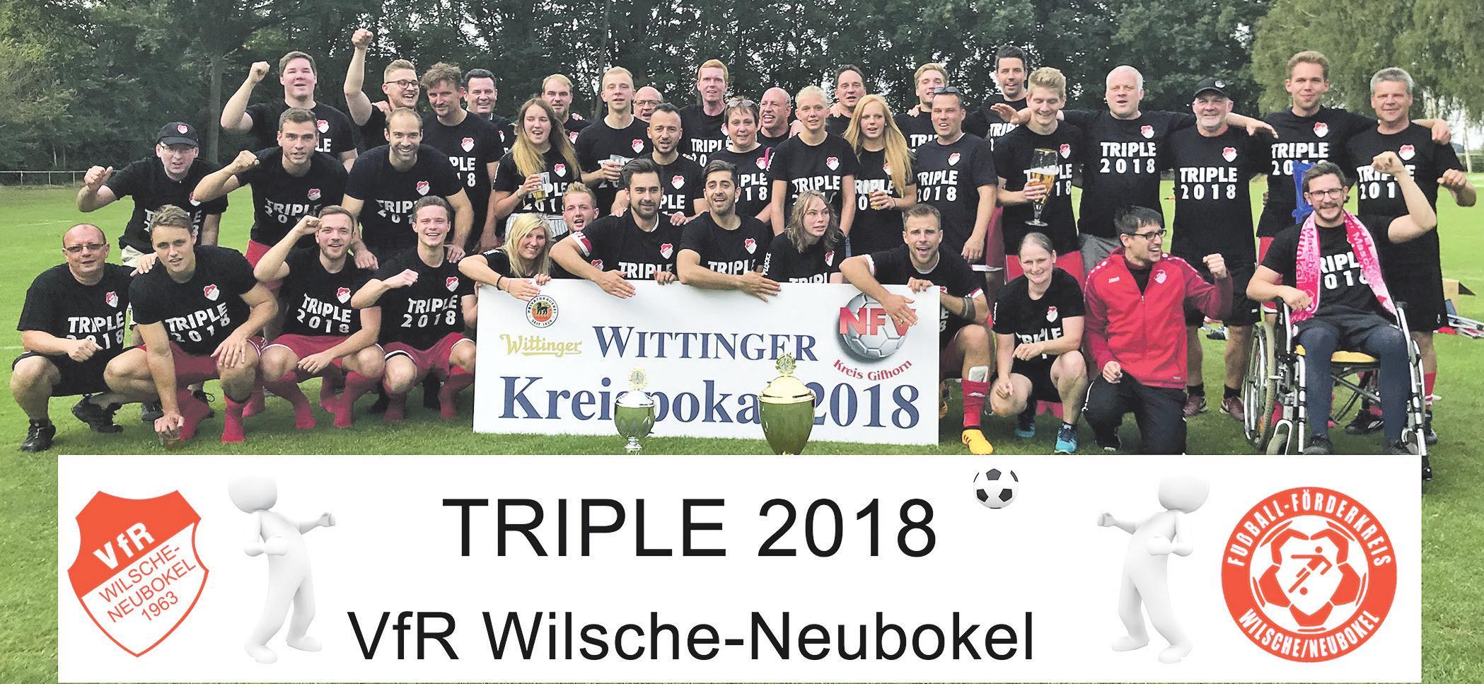 Kategorie Mannschaft/Erwachsene: 1. Herren und Team Frauen Fußball vom VfR Wilsche-Neubokel. 0137-988703018