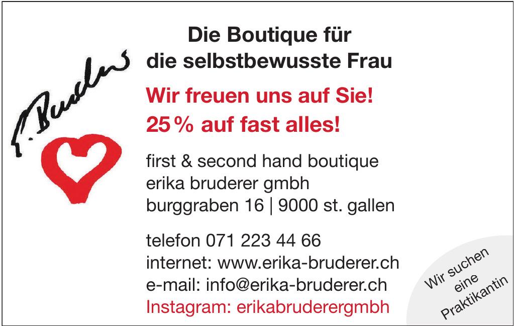 First & Second Hand Boutigue Erika Bruderer GmbH
