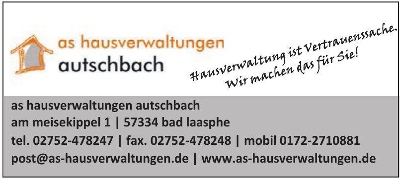 as hausverwaltungen autschbach