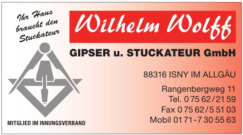 Gipser und Stuckateur GmbH - Wilhelm Wolff