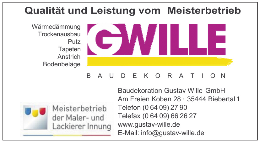 Baudekoration Gustav Wille GmbH