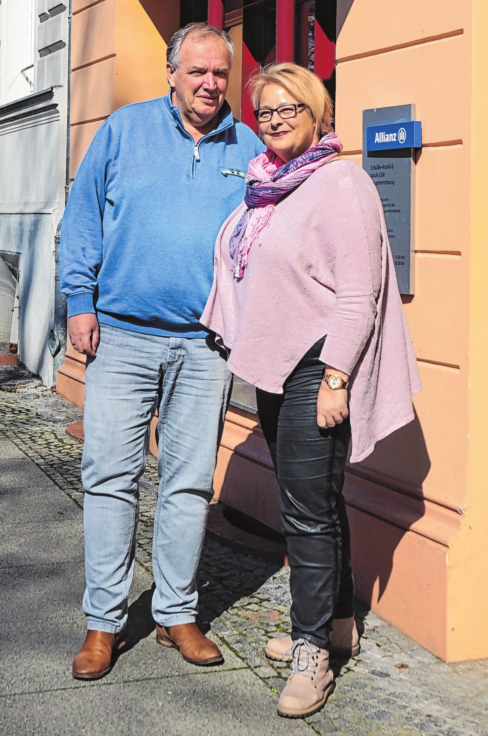 Michael Jacob und Manuela Schülke-Krolik.