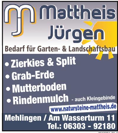 Mattheis Jürgen Bedarf für Garten- & Landschaftsbau