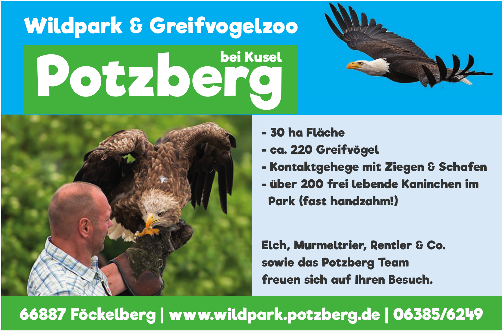 Wildpark & Greifvogelzoo Potzberg