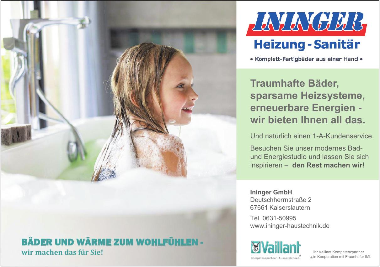 Ininger Heizung - Sanitär