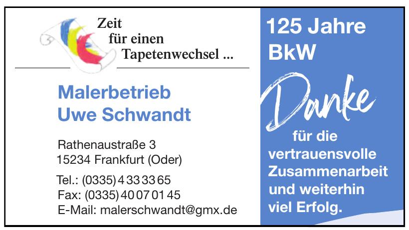 Malerbetrieb Uwe Schwandt
