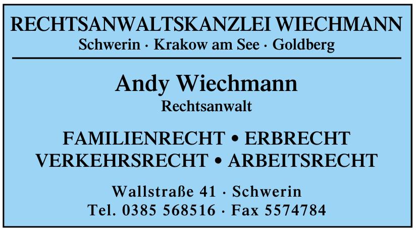 Andy Wiechmann, Rechtsanwalt
