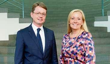 Dr. Kristel Degener und Dr. Florian Reuther, Vorstand der Deutschen Aids-Stiftung. FOTO: BARBARA FROMMANN