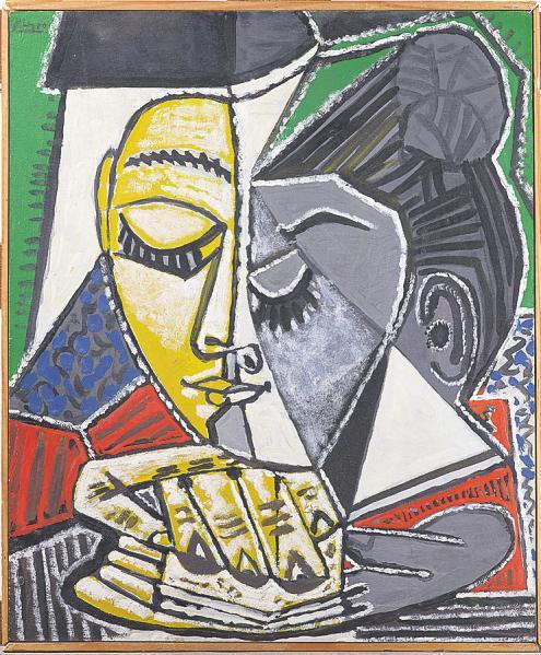 Tête de femme lisant/ Kopf einer lesenden Frau, 1953, Museum Ludwig, Köln © Succession Picasso/VG Bild-Kunst, Bonn 2021, Foto: Rheinisches Bildarchiv, Köln
