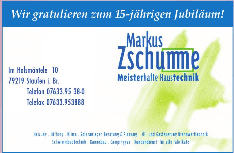 Markus Zschumme Meisterhafte Haustechnik