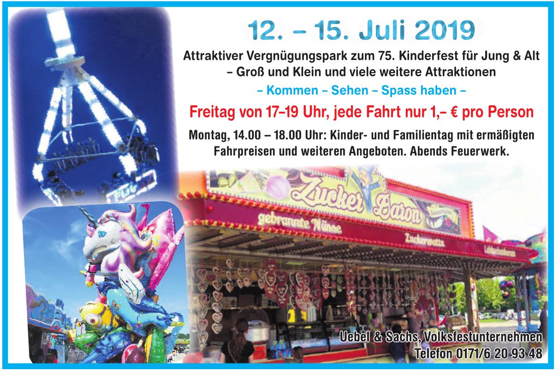 Uebel & Sachs, Volksfestunternehmen