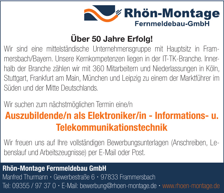 Rhön-Montage Fernmeldebau GmbH