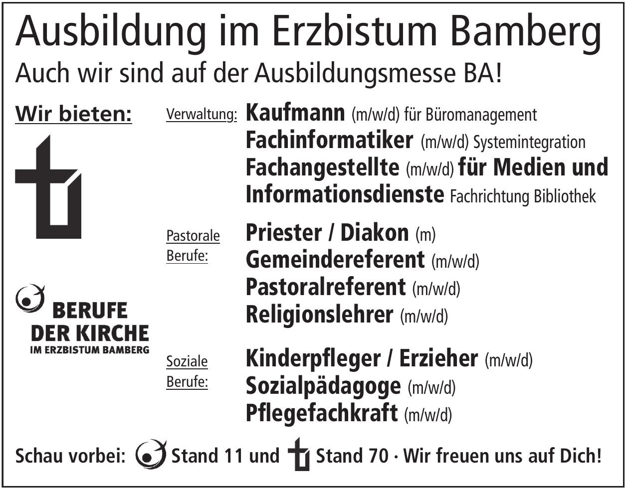 Ausbildung im Erzbistum Bamberg