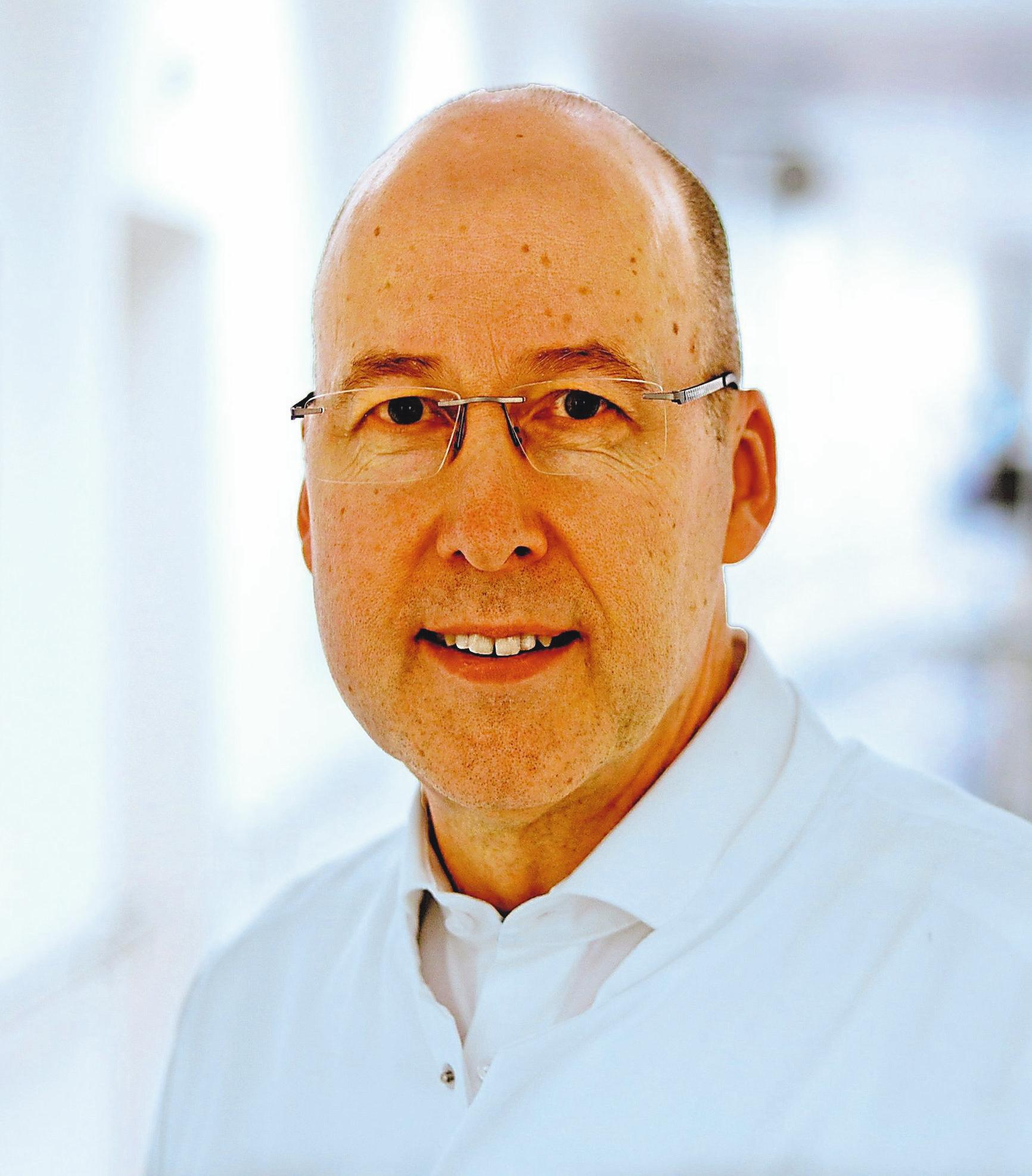 Chefarzt Dr. Reiner Schürmann. Foto: ukm-mhs/kk