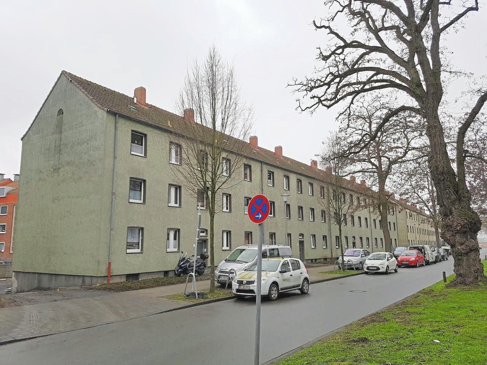 So sah der Wohnblock in Münster-Kinderhaus vor der Fassadensanierung aus.