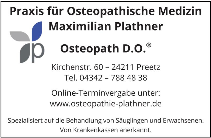 Praxis für Osteopathische Medizin Maximilian Plathner