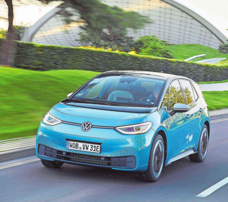 Eine neue Designsprache für eine neue Ära: Mit dem ID.3 will VW den langen Weg weg von fossilen Brennstoffen einleiten. Bild: PD