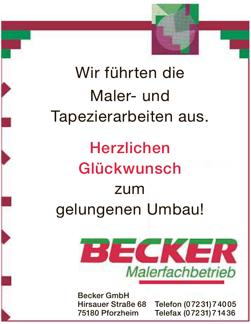Becker GmbH Malerfachbetrieb