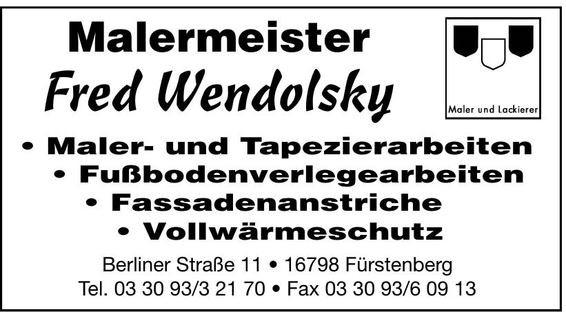 Malermeister Fred Wendolsky