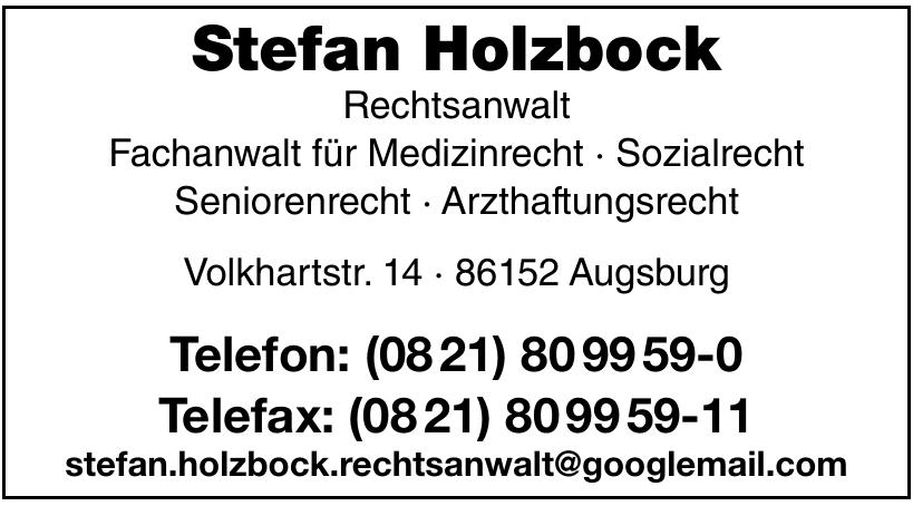 Rechtsanwalt Stefan Holzbock