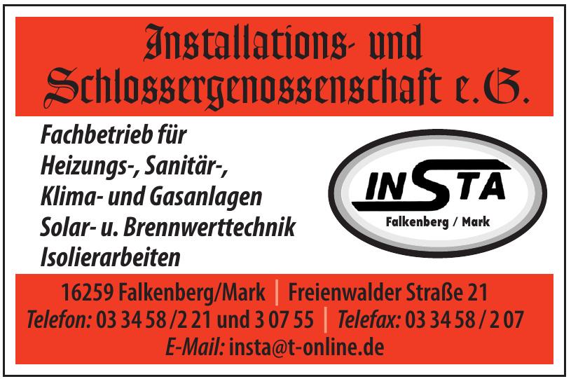 Installations- und Schlossergenossenschaft e.G.