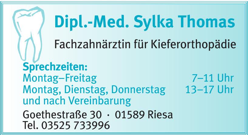 Dipl.-Med. Sylka Thomas Fachzahnärztin für Kieferorthopädie