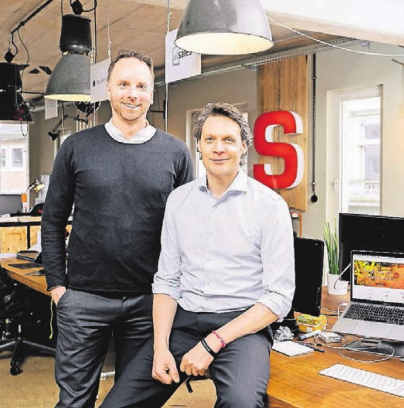 Dominik Gross (l.) und Sebastian Borek von der Geschäftsführung der Founders Foundation