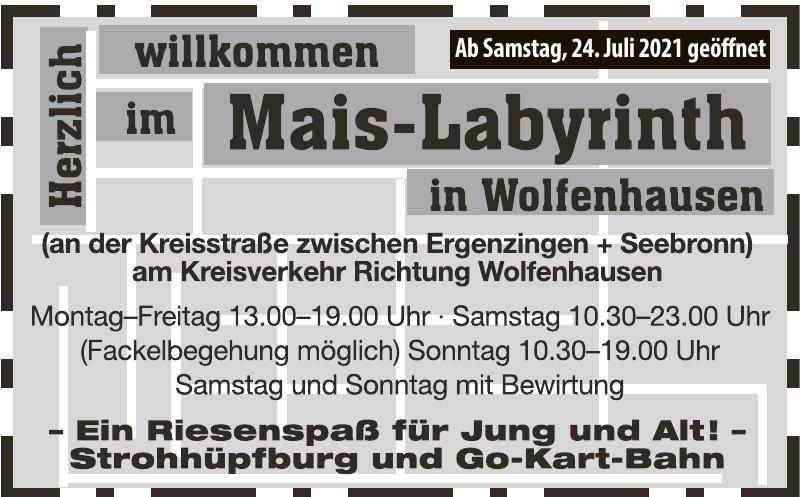 Mais-Labyrinth Wolfenhausen