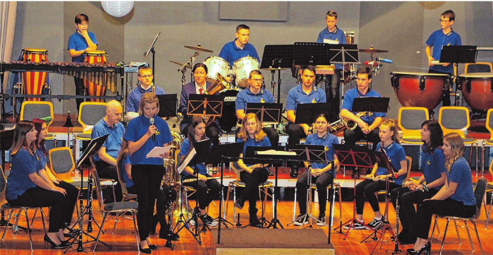 Die Jugendkapelle des Musikvereins Steinhofen wird am Sonntag ebenfalls für die musikalische Unterhaltung der Festbesucher sorgen. Fotos: Elisabeth Wolf