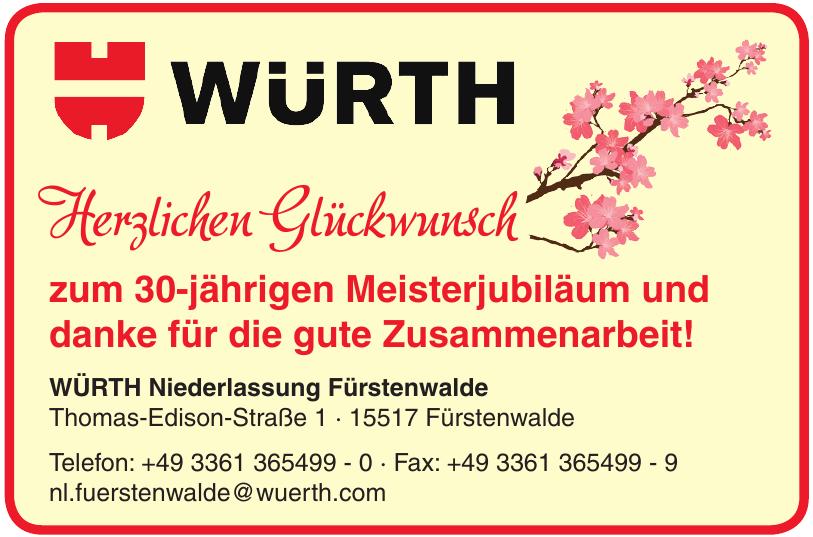 WÜRTH Niederlassung Fürstenwalde