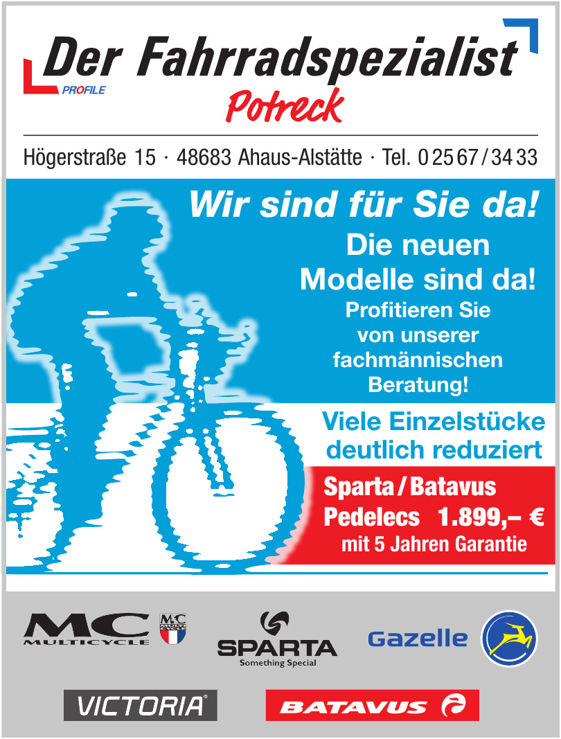 Potreck Profil: Der Fahrradspezialist