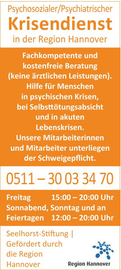 Psychosozialer/Psychiatrischer Krisendienst in der Region Hannover
