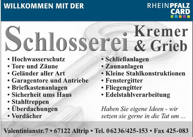 Schlosserei Kremer und Grieb