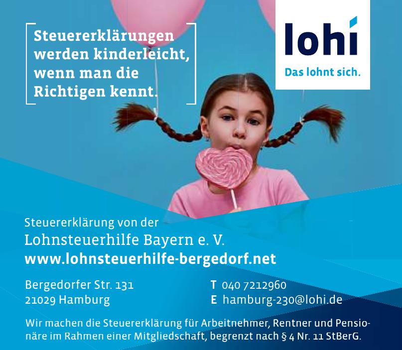 Steuererklärung von der Lohnsteuerhilfe Bayern e. V.