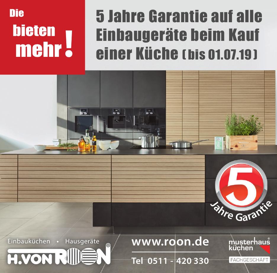 H. von Roon Elektro-Hausgeräte, Einbauküchen, Kundendienst