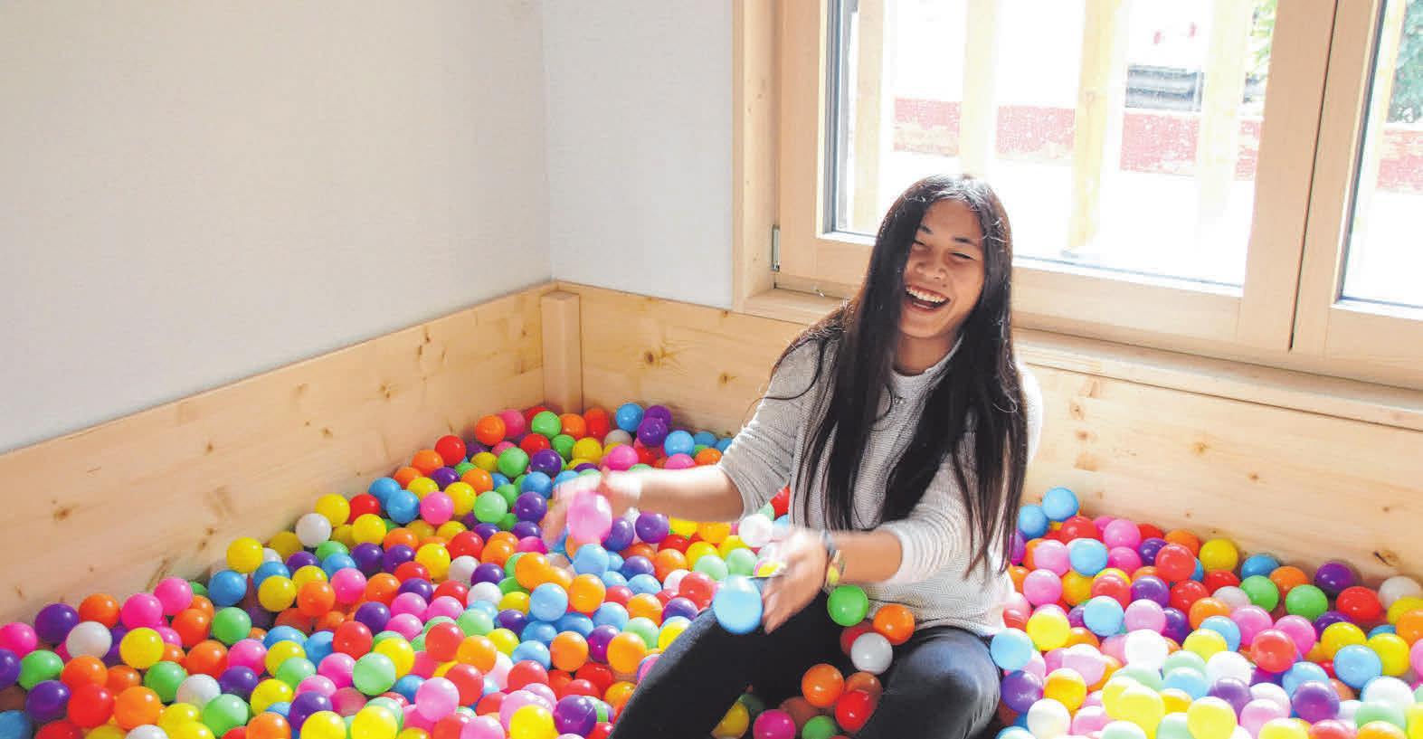 Die jungen Besucher können unter anderem im Bällebad ihren Spaß haben. FOTO: MF