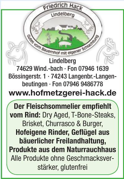 Hofmetzgerei Friedrich Hack